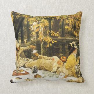 Coussin Holyday, le pique-nique par James Tissot, art