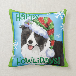 Coussin Howliday heureux border collie