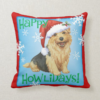 Coussin Howlidays heureux Norfolk Terrier