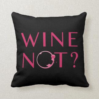 Coussin Humour d'amateur de vin du vin non  