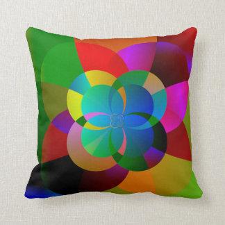 Coussin Illustration colorée de fractale