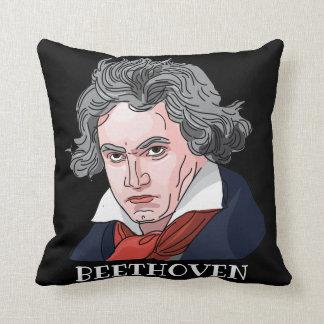 Coussin Illustration de portrait de Beethoven