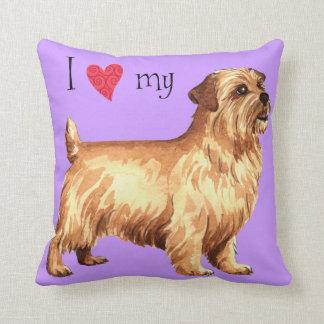 Coussin J'aime la ma Norfolk Terrier
