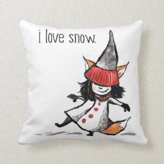 Coussin J'aime la neige !