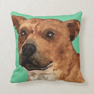 Coussin J'aime mon bull-terrier du Staffordshire