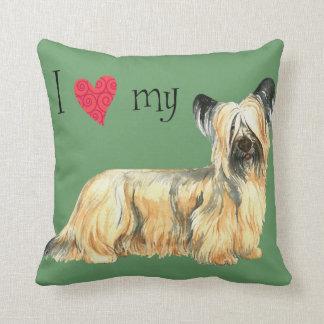 Coussin J'aime mon Skye Terrier