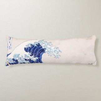 Coussin japonais de corps de vagues