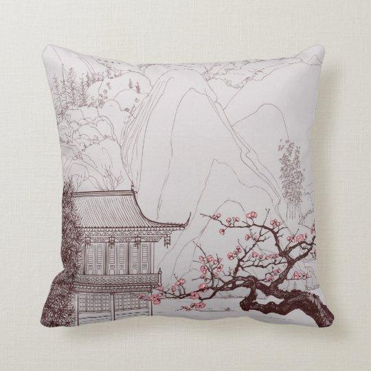 coussin japonais de fleurs de cerisier. Black Bedroom Furniture Sets. Home Design Ideas