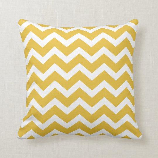 coussin jaune de rayure de chevron de moutarde. Black Bedroom Furniture Sets. Home Design Ideas