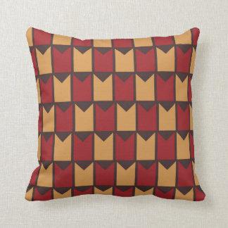 Coussin Jaune d'or rouge et motif Checkered de Brown