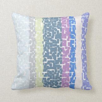 Coussin Jaune/gris multicolore/beige/rose/pourpre/bleu