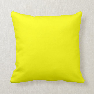 coussin jaune lumineux solide