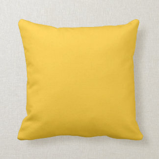 coussin jaune solide d'ochore