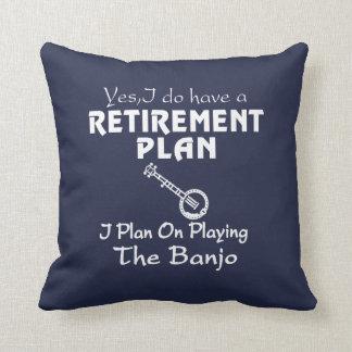 Coussin Je prévois sur jouer le banjo !
