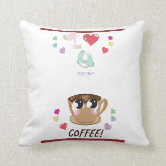 Coussin Je t'aime PLUS que le café