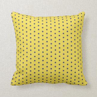Coussins pois personnalis s - Coussin jaune et bleu ...
