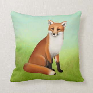 Coussin Jeune carreau de Fox rouge