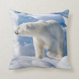 Coussin Jeune ours blanc masculin