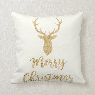 Coussin Joyeux Noël - cerf commun de Noël de parties