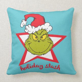 Coussin La cachette de vacances de Grinch |
