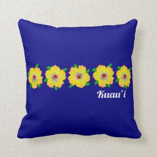 Coussin La ketmie hawaïenne fleurit Kauai Hawaï