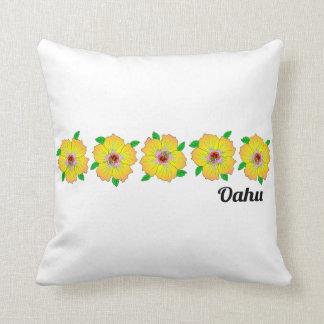 Coussin La ketmie hawaïenne fleurit Oahu Hawaï