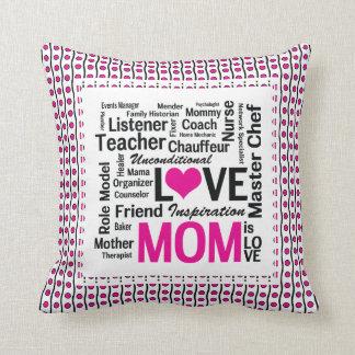 Coussin La maman est cadeau du jour de mère d'amour pour