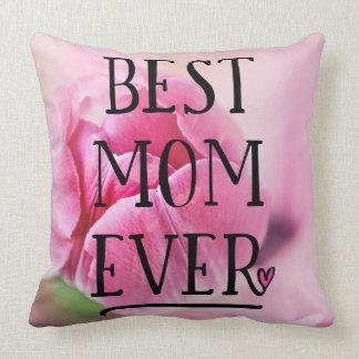 Coussin La meilleure tulipe de rose de maman jamais