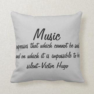 Coussin La musique exprime…