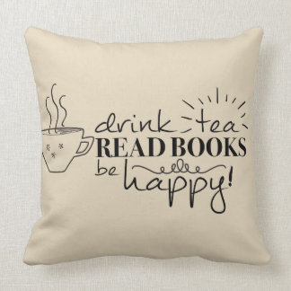 Coussin La pièce en t de boissons, a lu des livres, soit