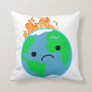 Coussin La terre sur le feu