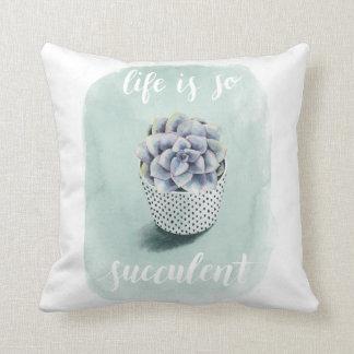 Coussin La vie est I succulent
