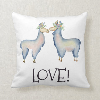 Coussin Lama, amour