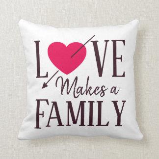 Coussin L'amour fait une famille - adoption d'accueil