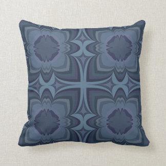 Coussin Le bleu abstrait couvre de tuiles le carreau