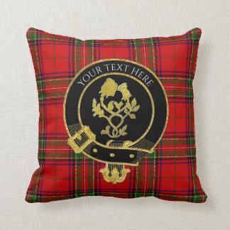 Coussin Le clan écossais Crest le tartan rose de chardon