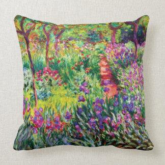Coussin Le jardin d'iris chez Giverny par Claude Monet