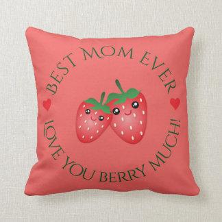 Coussin Le meilleur amour du jour de mère de maman jamais