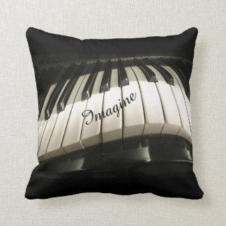 Coussin Le piano verrouille le carreau décoratif