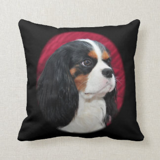 Coussin Le Roi cavalier Charles Tri-Color Pillow