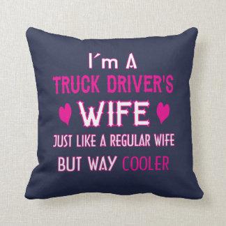 Coussin L'épouse du chauffeur de camion