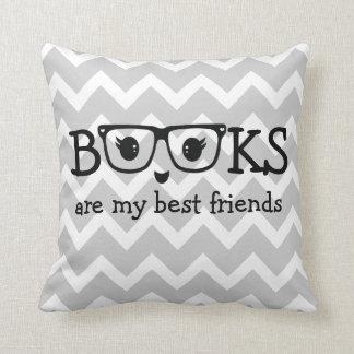 Coussin Les livres sont mes meilleurs amis