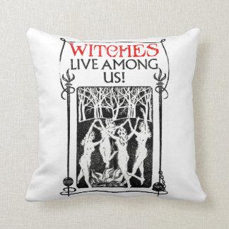 Coussin Les sorcières vivent parmi nous