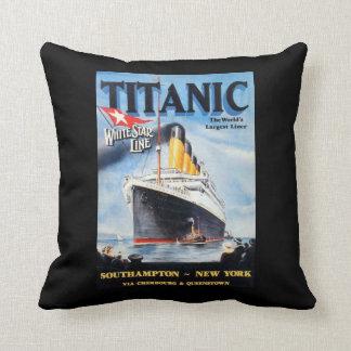 Coussin Ligne blanche titanique d'étoile - le plus grand