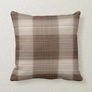 Coussin Ligne molle carreau léger lisse de Brown de motif