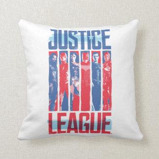 Coussin Ligue de justice art bleu et rouge de | de groupe