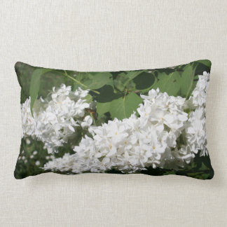 Coussin lilas blanc