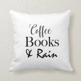Coussin Livres de café et carreau de pluie