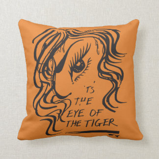 Coussin L'oeil de la conception de tigre de Nachanita