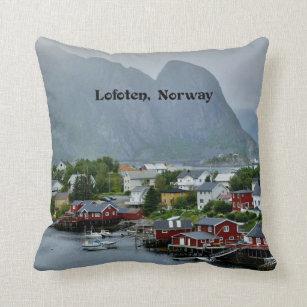 Coussin Lofoten, photographie pittoresque de paysage de la